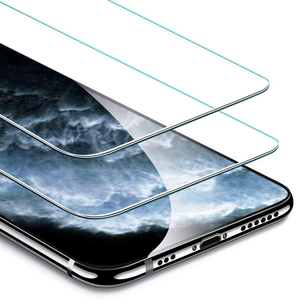 ESR Screen Protector Compatible for iPhone 11 Pro, iPhone XS/X [2 Pack] [Easy Installation Frame] [Case Friendly], Premium Tempered Glass Screen Protector for iPhone 5.8 Inch (2019) by ESR