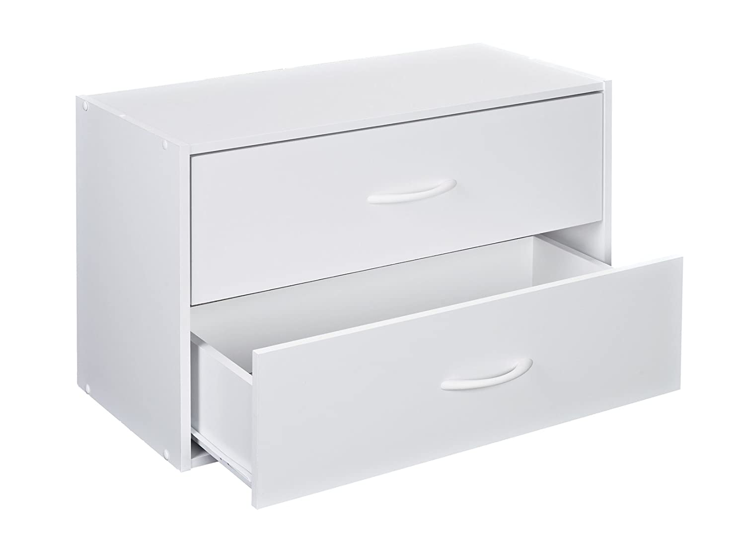 Attrayant Amazon.com: ClosetMaid 1566 Stackable 2 Drawer Horizontal Organizer, White:  Home U0026 Kitchen
