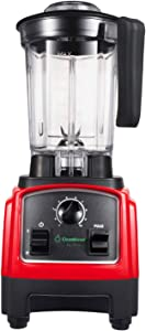 Cleanblend Ultra Blender, Low Profile Blender for Shakes and Smoothies, Compact Countertop Blender, Stainless Steel 8-Blade System, 1,000 Watt Motor, BPA-Free, Tamper Wand Included, 40-Ounce Pitcher