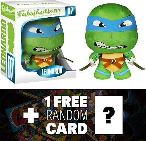 Leonardo: Funko Fabrikations x TMNT Figure + 1 FREE Official classic TMNT Trading Card Bundle (43216)