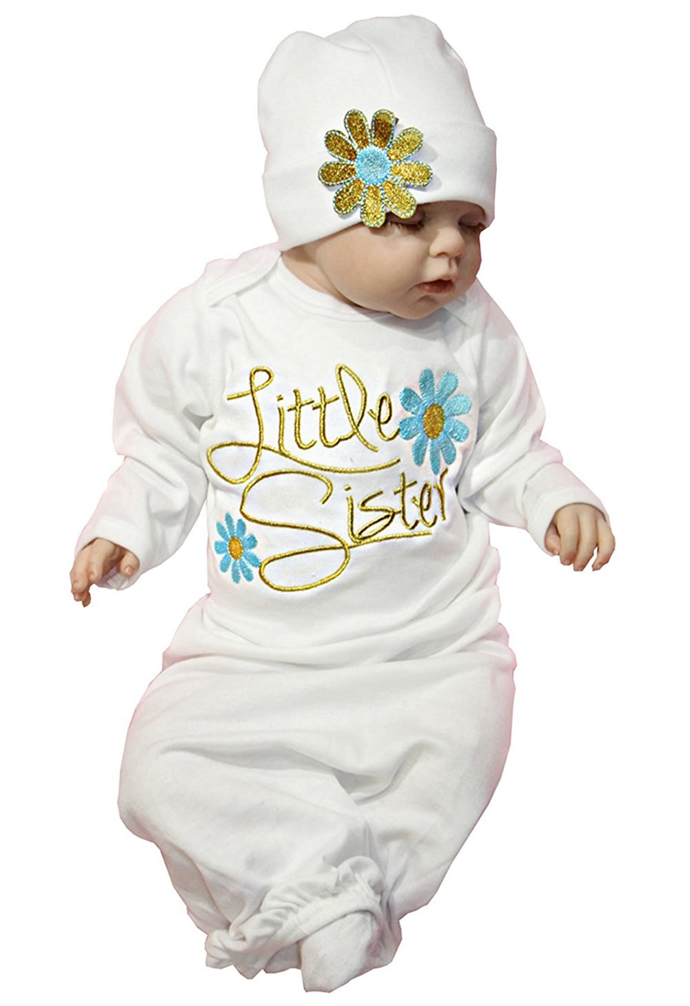 Newborn Girl Floral Take Home Outfit Baby Girl Gift Set Letter Sleepsack Gown BANGELY Z1145