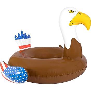 Amazon.com: Coconut Float Gigantic Mustache 8-Foot Inflatable Pool ...