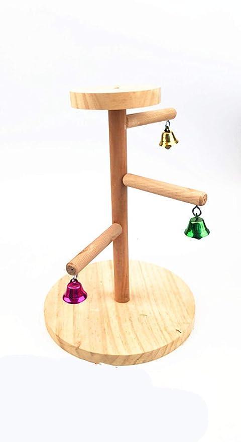 MJBABY Parrot Stand Bird Toy Office Soporte de Madera Esmerilado ...