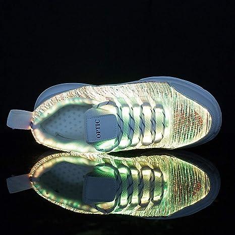 Chaussures LED Fille Gar/çon,USB Rechargeable Lumi/ères,Clignotant 7 Couleur Changeant Multisports Outdoor /à roulettes Sports Gymnastique Sneakers avec Rouleau//Lumi/ères