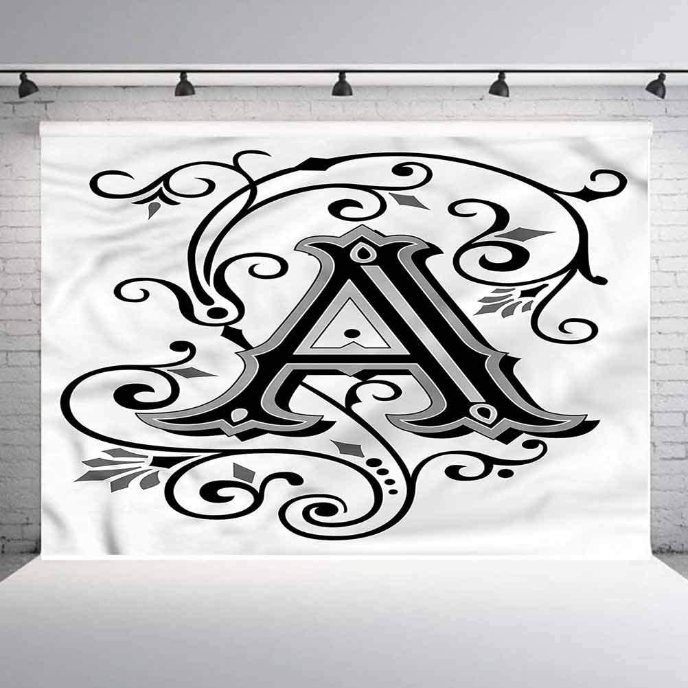 5x5FT Vinyl Wall Photography Backdrop,Letter A,Abstract First Letter Background for Baby Birthday Party Wedding Graduation Home Decoration