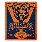 "The Northwest Company 1NFL/03102/0001/AMZ NFL Chicago Bears Marque Printed Fleece Throw, 50"" x 60"", Chicago Bears, 50 x 60"""