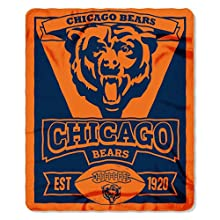"The Northwest Company 1NFL/03102/0001/AMZ NFL Chicago Bears Marque Printed Fleece Throw, 50"" x 60"", Chicago Bears, 50 x 60"""