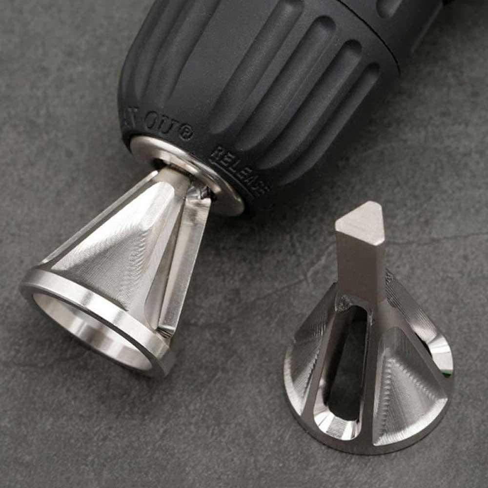 forets /à m/étaux Outil pour /ébavurer /à chanfreiner externe en acier inoxydable M/étal Supprimer outils de bavure pour tous types de forets /à mandrin ToomLight Outil /à chanfreiner externe pour /ébavurage