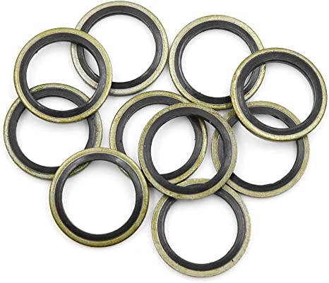 28mm OD. X AUTOHAUX 10pcs Engine Oil Crush Washers Drain Plug Gaskets 20mm ID