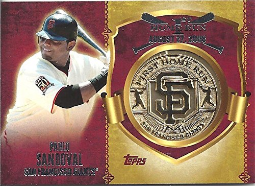 PABLO SANDOVAL COLLECTIBLE 1ST HOME RUN COMMEMORATIVE MEDALLION/COIN CARD CELEBRATING THE FIRST HOME RUN ON AUGUST 27, 2008 AT AT&T PARK (SAN FRANCISCO GIANTS - FREE SHIPPING)