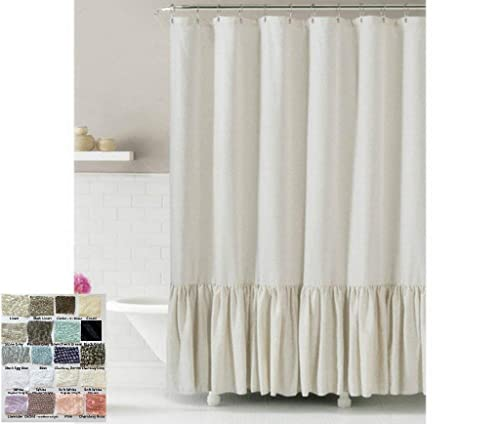 linen shower curtain with mermaid long