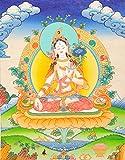 Goddess White Tara - Tibetan Thangka Painting
