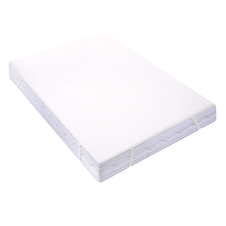 HOMFY Protector de colchón Impermeable, cubrecolchón Transpirable, Gorro Tapa 30 cm, sábana Bajera, antiácaros Hypo-allergénique, Eco Bambú Fibra: ...