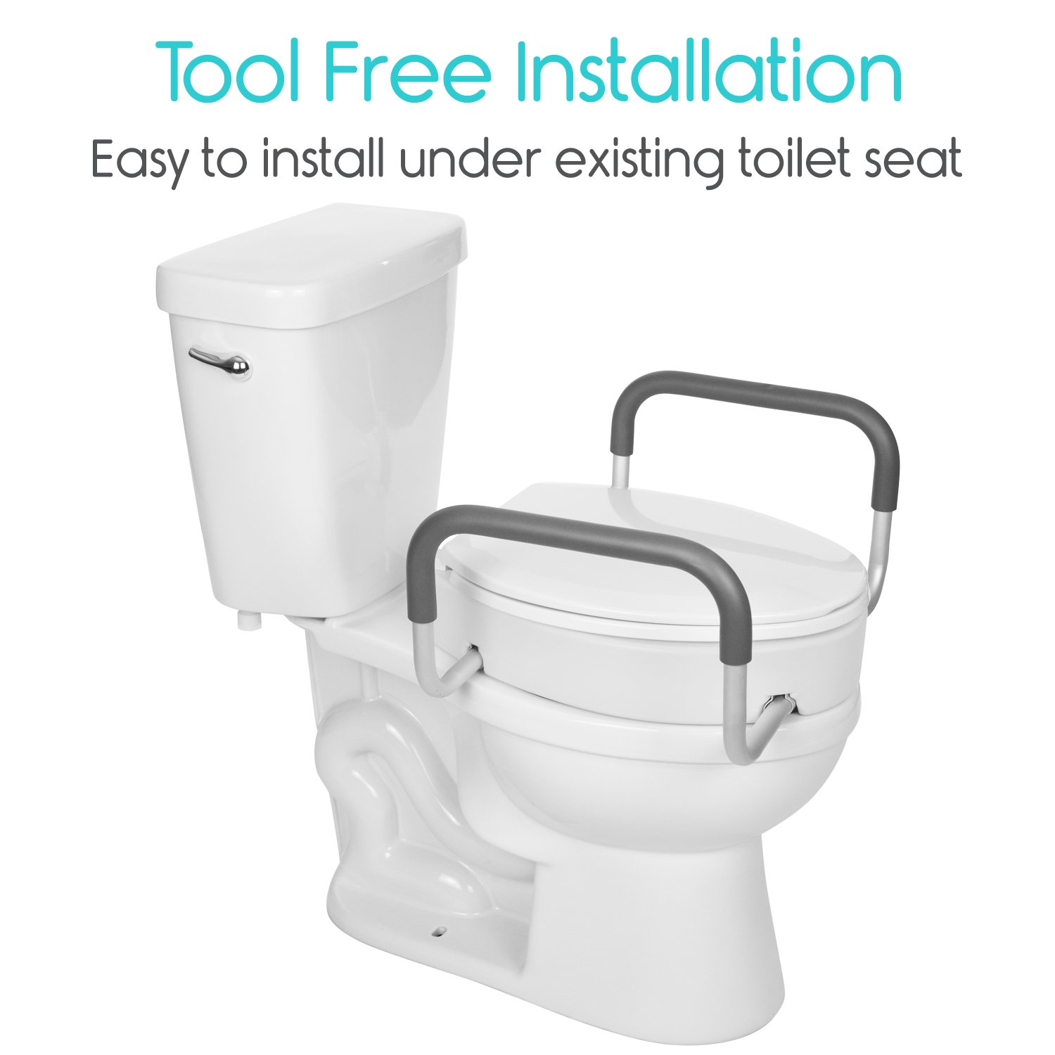 Vive Toilet Seat Riser With Handles Adaptive Equipment