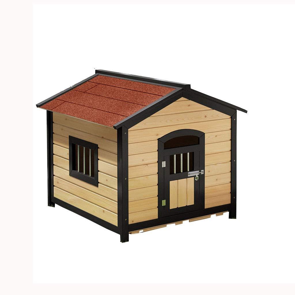 Lijin pet house Tromba di legno rosso solido cuccia per cani canile carbonizzato per esterni lettiera per cani grande cane domestico canile impermeabile protezione solare antisettico piccola casa
