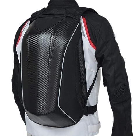 Welltobuy Bolso rígido Impermeable para Motocicleta Bolsa de Ciclismo Mochila para Motocicleta Bolsas de Equipaje de