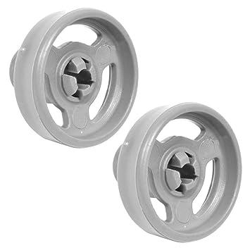 Auténtica para cesta inferior de ruedas y ejes para Indesit IDL40 apto para lavavajillas (unidades 2): Amazon.es: Hogar