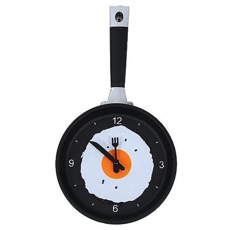 SODIAL(R) Reloj de Sarten con Huevo Frito - Reloj de Pared Novedad para
