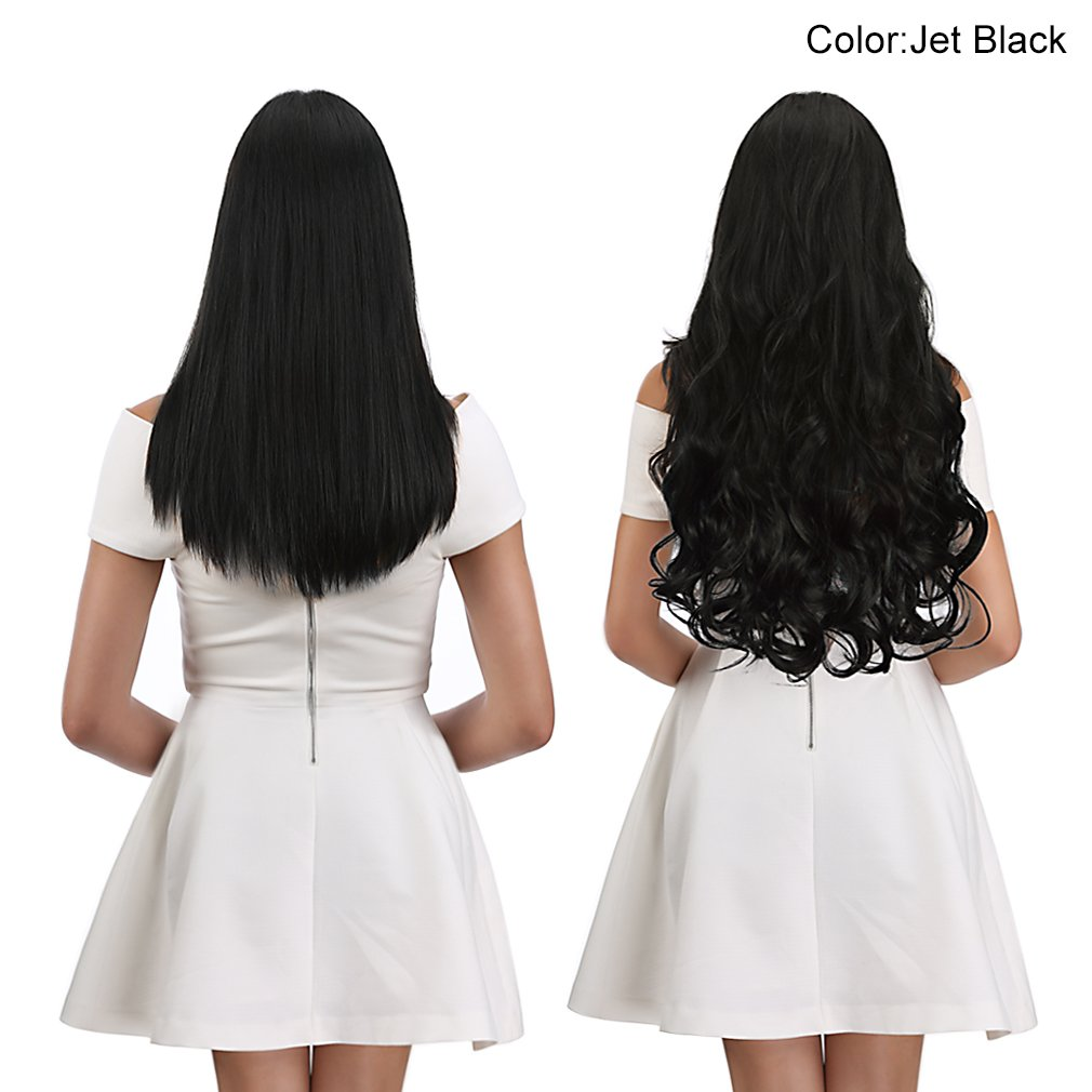 SARLA Blonde Hair Extension Halo Curly Long Synthetic Hairpieces for Women Our Review