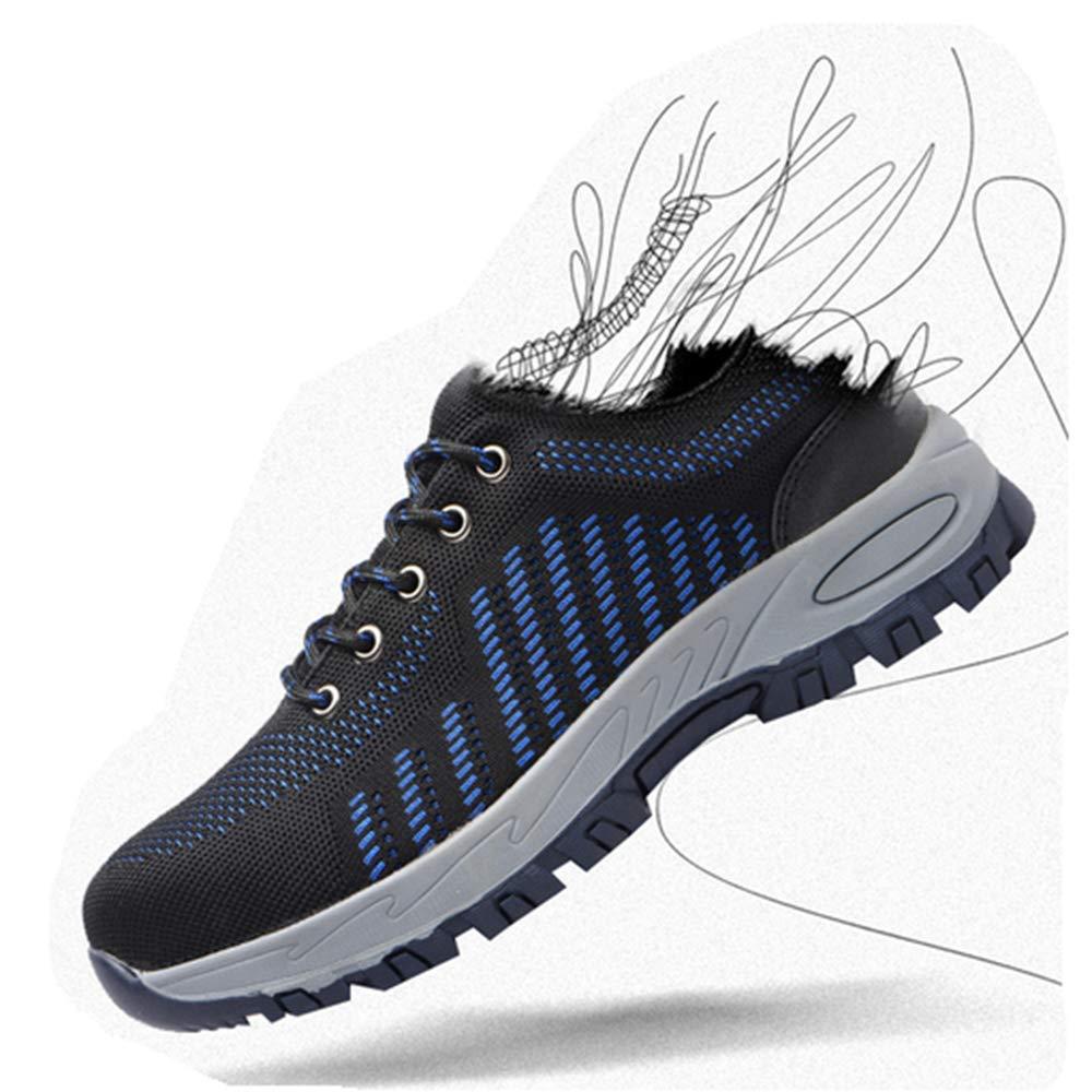 KINGLEN Steel Toe Breathable Industrial Construction Shoes for Men Women Weaving Work Safety Shoes (8 Women / 6.5 Men, Blue) by KINGLEN (Image #2)