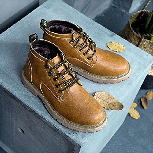 grande black rembourr¨¦ coton imitation haute chaussures outillage male de cuir Hiver bottes 39 en chaussures taille court 5qaaRP