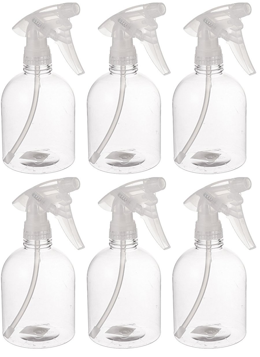 Bar5F Empty Clear Spray Bottle, 16 oz., Pack of 6