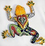 Tierra Fina Talavera Small Wall Frog - 10.50'' W X 10.50'' L (Yellow body)