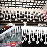 Description: 100% New Brand and High Quality Material: Foam Size: 58*32cm Color:White Quantity: 2pcs Package includes: 2 x White Snowflake Ice Strip Note: 1. Please allow 1-2 cm error due to manual measurement. 2. Due to the difference betwee...