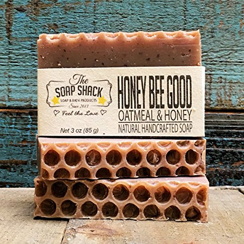 Oatmeal Honey Soap-Handmade Soap-Cold Process Soap-Organic Honey-Organic Oatmeal-By The Soap Shack
