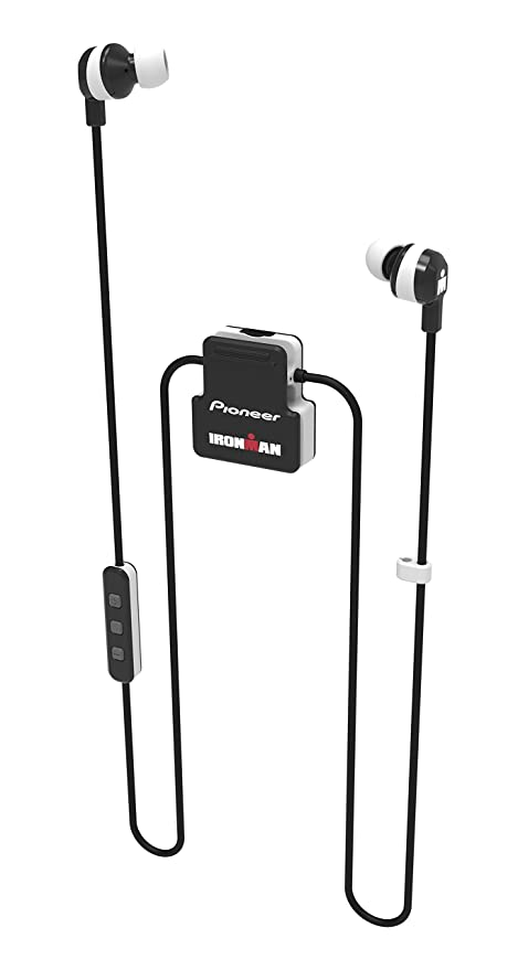 f8d2eb9cbcf Pioneer Ironman Sweat-Resistant Wireless Sports Earphones with Integrated  Clip, White SE-IM5BT