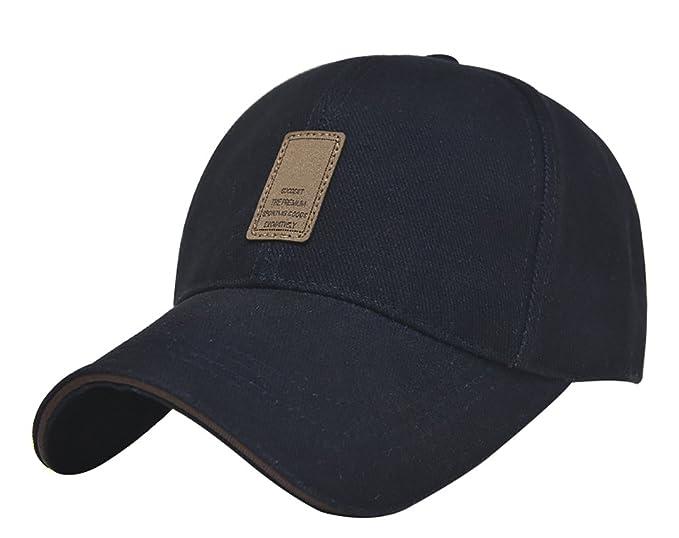 64326fd6146 B T Men s Premium Baseball Hat Golf Cap Adjustable Plain Cap (Blue ...