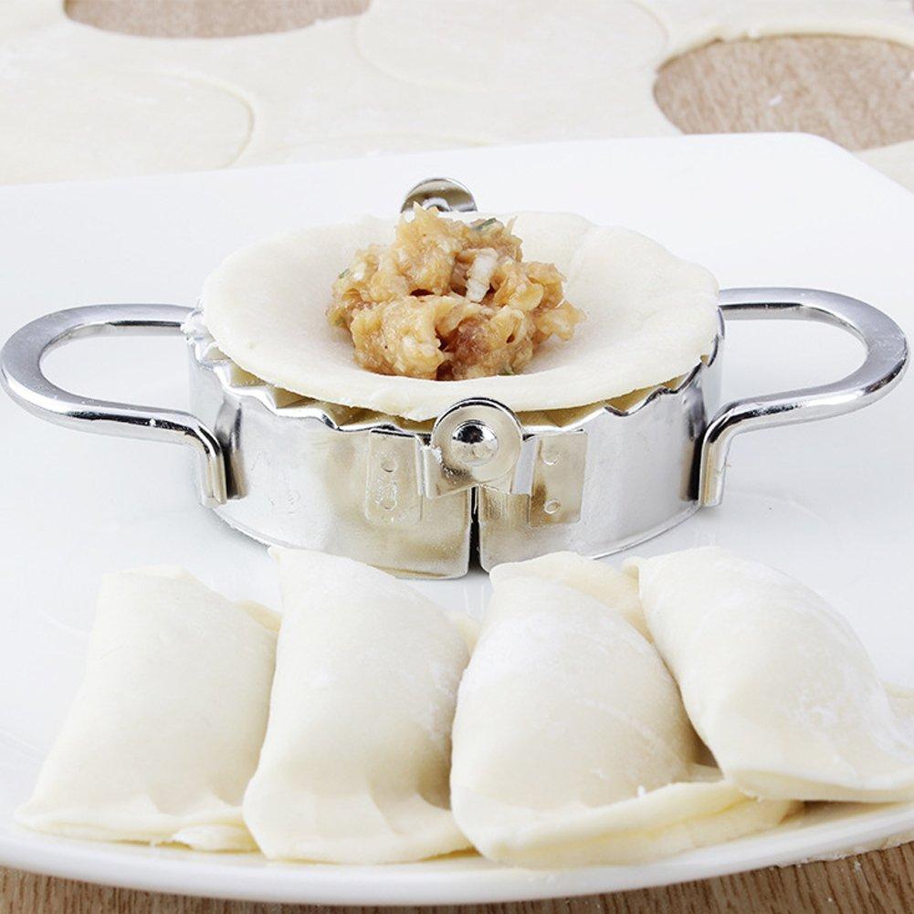Amazon.com  Kitchen stainless steel utensil set - 2Pcs set Stainless Steel  appliances Dough Presser Dumpling Mold Maker Wrapper Cutter Pie Ravioli  Dumplings ... a713e30514d9