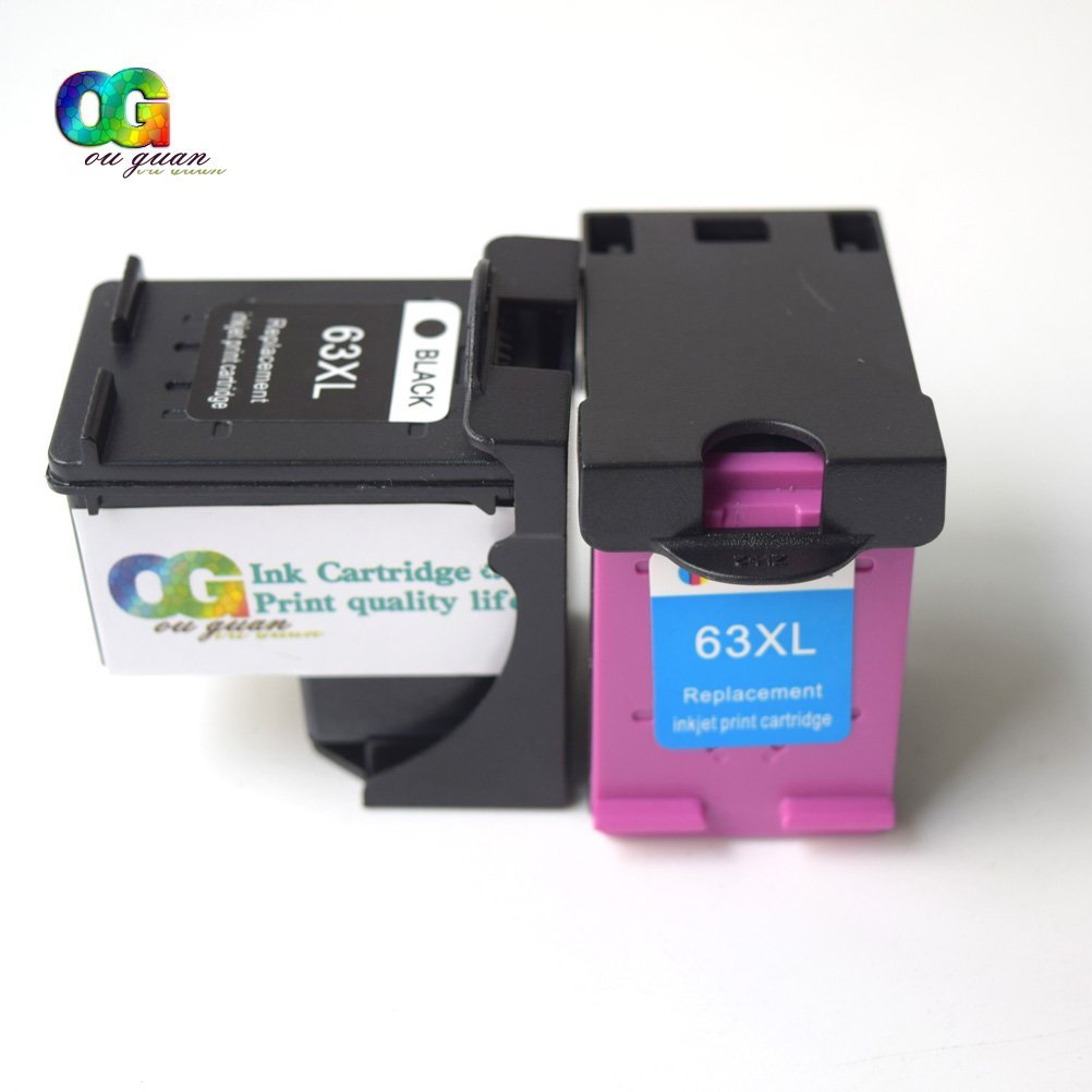 2PK Color Ink Cartridge For HP 63XL F6U63AN HP ENVY 4520 Deskjet 2131 2133 3633