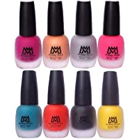 Makeup Mania Premium Nail Polish Set, Velvet Matte Nail Paint Combo of 8, Home & Professional Use, Perfect Gift for Girls & Women (MM # 20-68)
