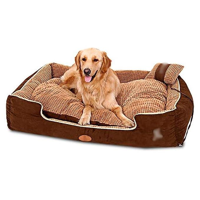 Caseta para Mascotas Casa para Perros pequeños Perro Mediano Perro Grande Lavable Cama para Mascotas Nido para Mascotas Estera para Mascotas Cálido y ...
