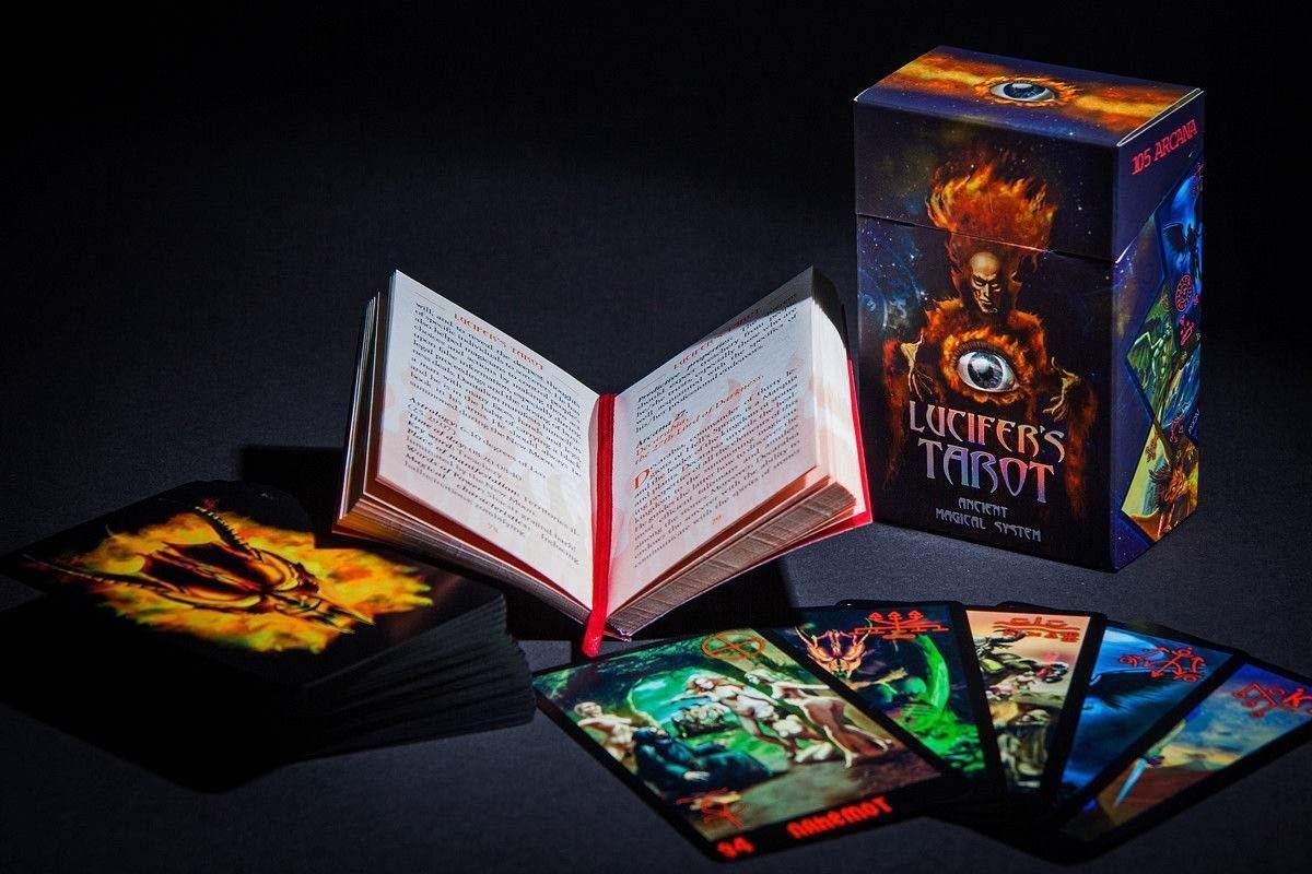 Lucifer's Tarot - Dark Tarot Cards -105 Occult Tarot Card Deck + Russian Guidebook