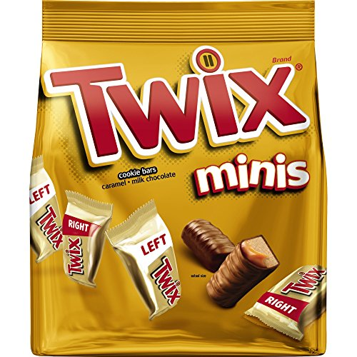TWIX Caramel Minis Size Chocolate Cookie Bar Candy 9.7-Ounce Bag (Package May Vary)