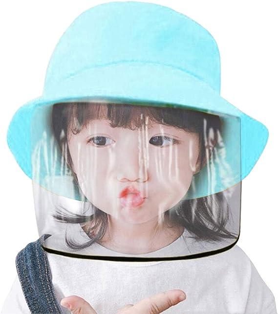 Keleily Sombrero Protector Bebe con Pantalla de Protecci/ón Facial Prueba de Viento Prueba de Polvo Rosa Sombrero Protector Facial Ni/ños Sombrero Protector de Pescador para Exteriores