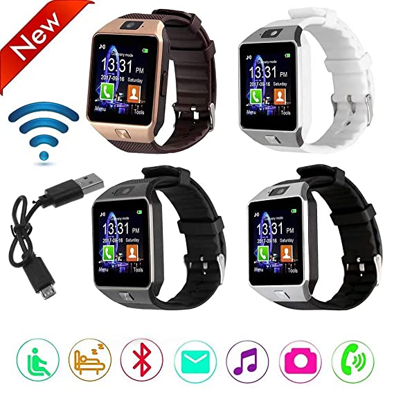Amazon.com: Paddsun DZ09 Bluetooth Smart Watch with Camera ...
