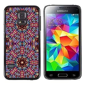 MOBMART Carcasa Funda Case Cover Armor Shell PARA Samsung Galaxy S5 Mini, SM-G800 - Coated Star Nuts