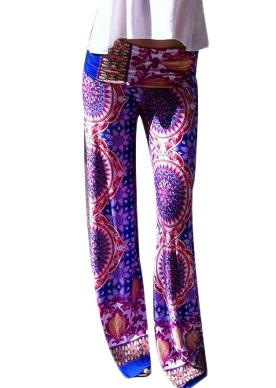 Yayu Women's Waist Wide Leg Pants Chic BohoPalazzo Pants