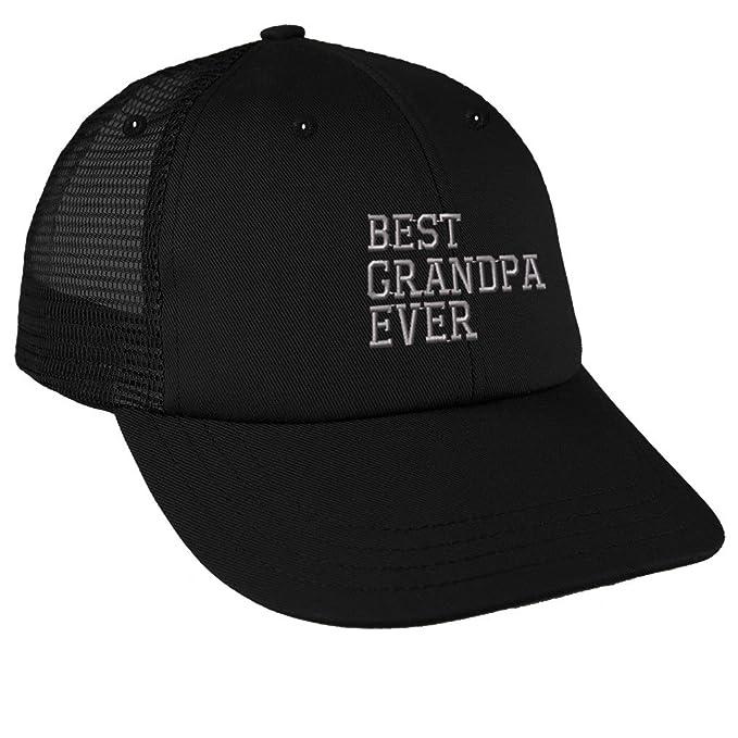 Amazon.com  Best Grandpa Ever Embroidery Design Low Crown Mesh Golf ... 1e3cb1582d9