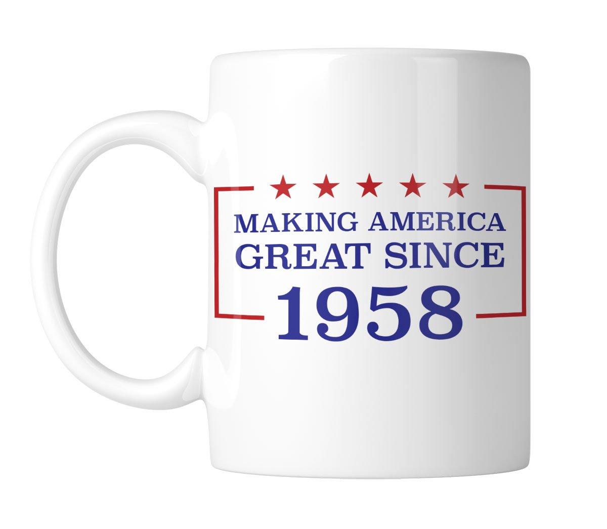 Making America Great Since 1958-60th Birthday 11 oz. Mug (1 Mug) by Inkeezy (Image #1)