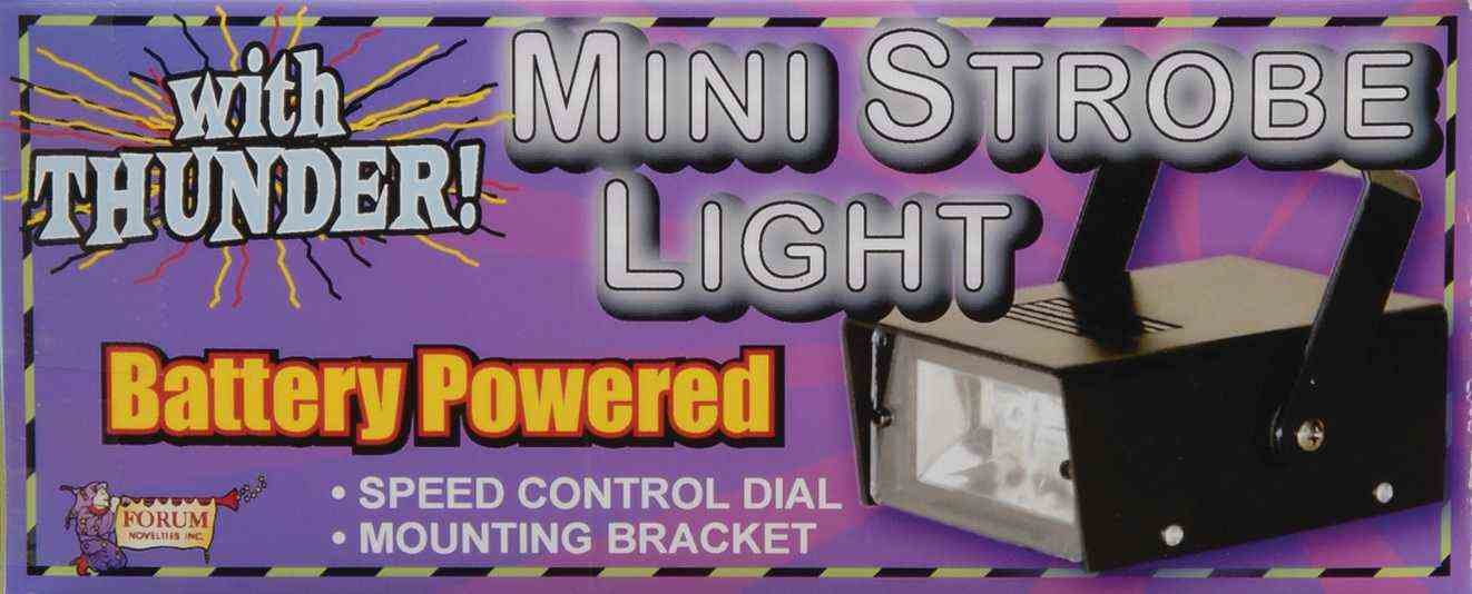Forum Novelties Mini Strobe Light with Thunder by Forum Novelties