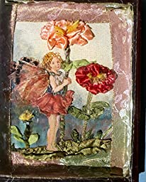 SALE Ribbon and Stumpwork Embroidery of The Song of the Zinnia Fairy by Cicely Mary Barker 9 1/2\
