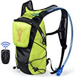 ECEEN LED Turn Signal Backpack Light Reflective Vest 18L Capacity Outdoor Sports Bag Flashing Warning Lamp Security Pack…
