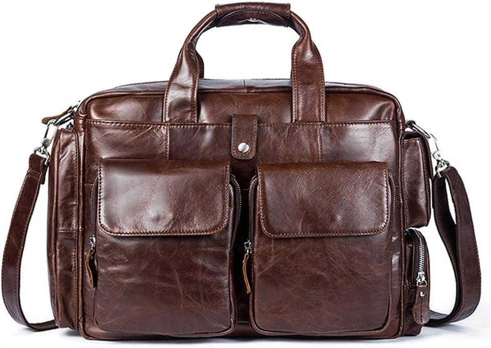 """Color : Coffee Color Messenger /& Shoulder Bags Mens Leather Business Briefcase Leisure Satchel Handbag for 13/""""Laptop Messenger Bag"""