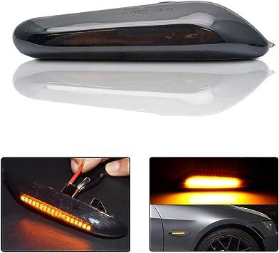 Front Bumper Reflector Carbon Fiber Side Marker For 07~12 BMW E92 E93 3er Coupe