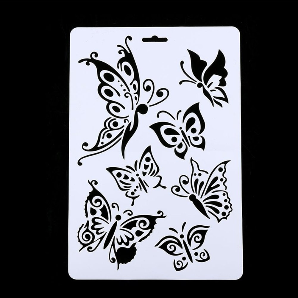 DIY Craft Butterfly Stencils Template Painting Scrapbooking Stamps Album New VOOYE