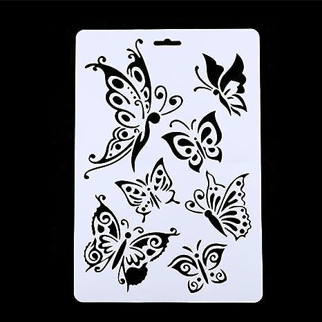 Plantilla De Plástico Para Manualidades Diseño De Mariposas Para